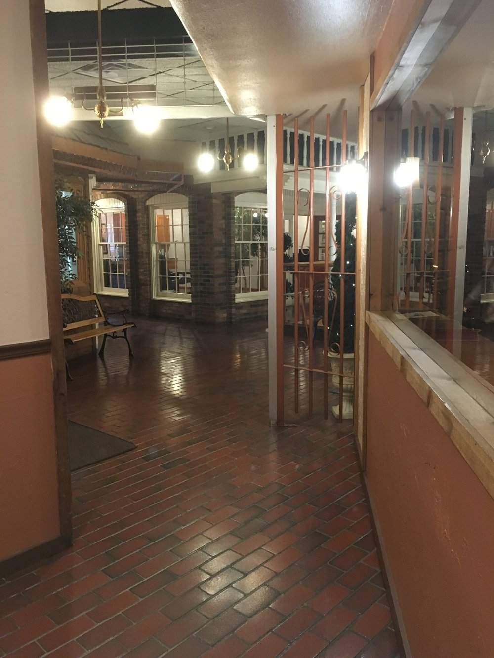 The rear entry way to the elevator...