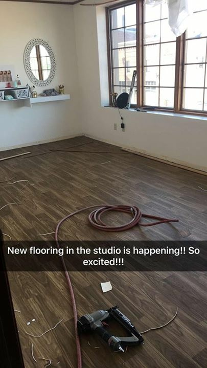 New flooring being put in!