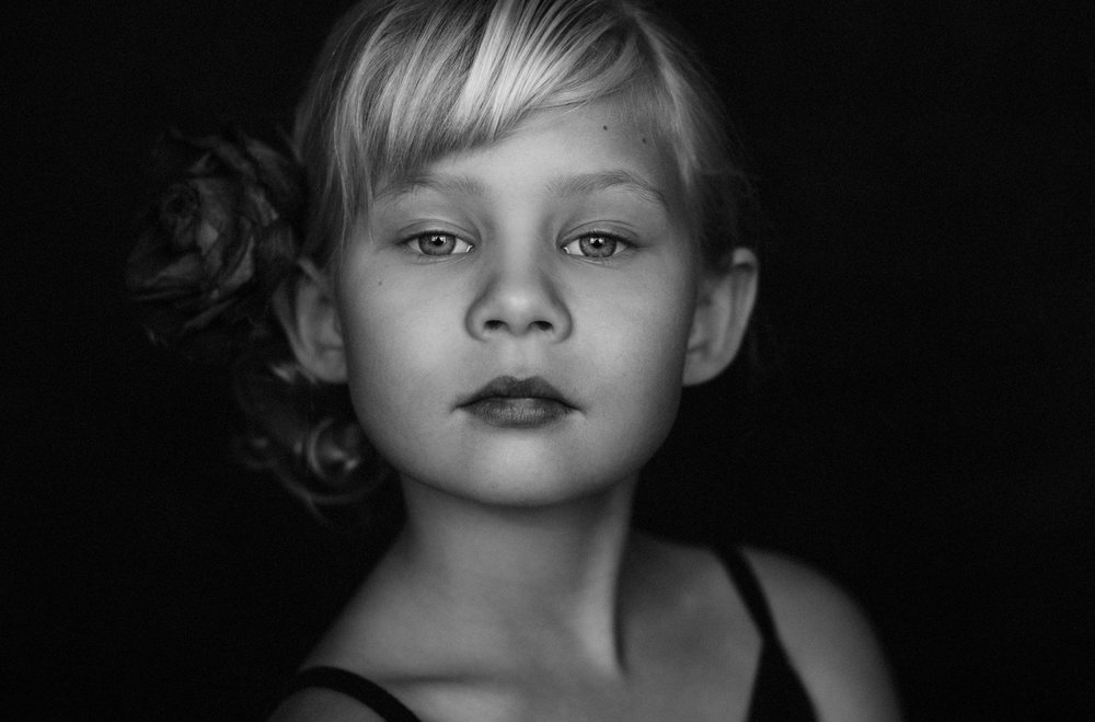 Also from December- A portrait of six year old Harmony.
