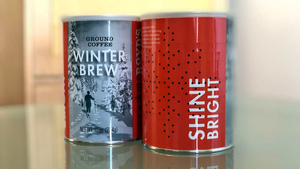 Boyd's Winter Brew Packaging