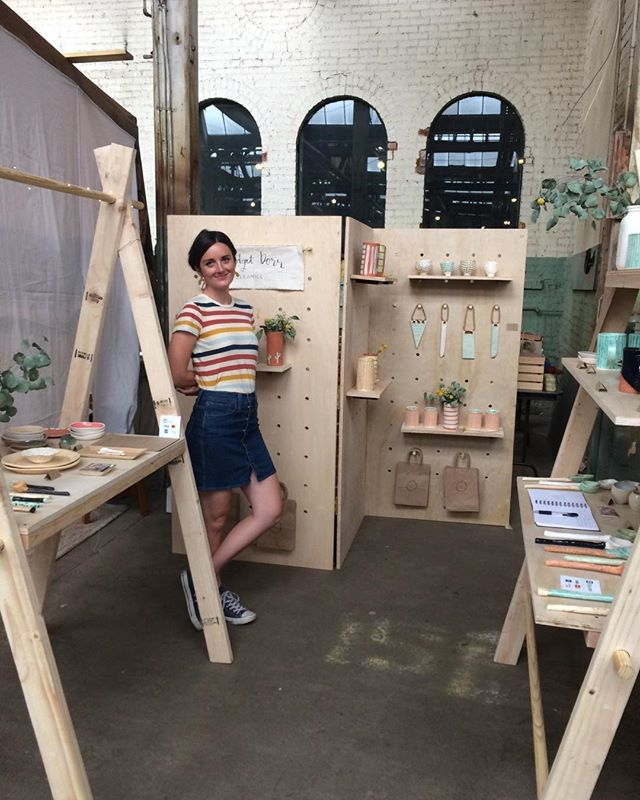 So proud of all your hard work @bridgetdorr. Booth display lookin 💯 We're here all day at the Denver Flea, come say hi!