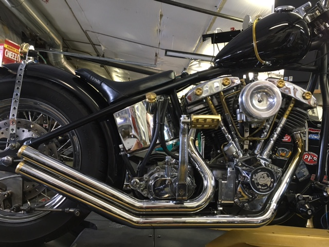 Chrome is back from Northwest Chrome and brass exhaust tips finish off this wicked set of pipes!