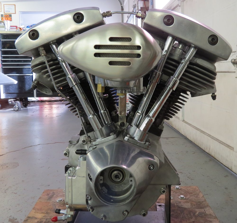 WE REBUILD ENGINES AT OUR SHOP!  STARTED WITH CASES ONLY ON THIS ONE AND LITTLE BY LITTLE THIS BEAUTY WAS CREATED!