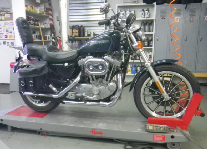 BEFORE:  THIS 2001 SPORTSTER IS WHAT WE STARTED WITH.
