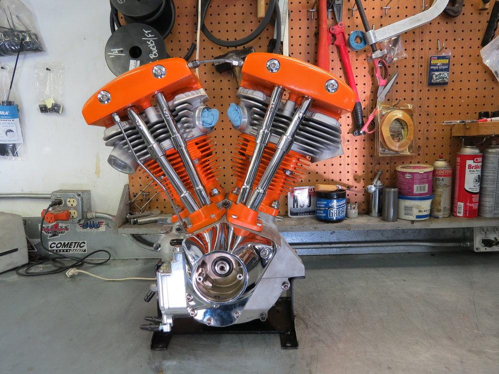 1975 HARLEY DAVIDSON SHOVELHEAD MOTOR REBUILT BY TODD APPLE