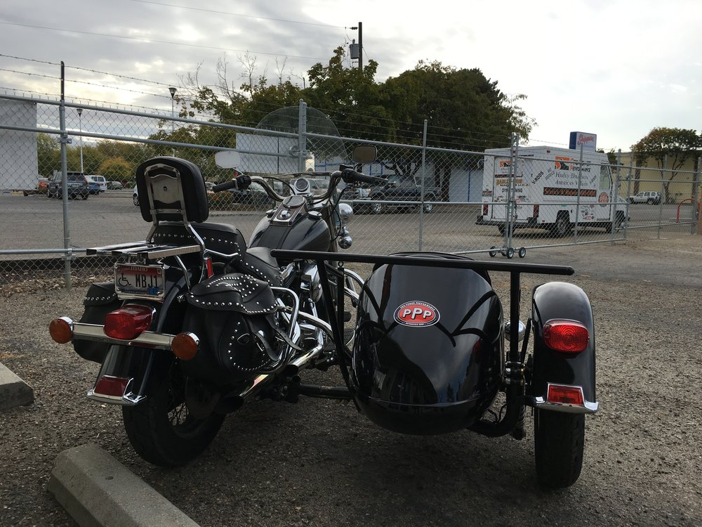 1996 HARLEY DAVIDSON FLST WITH SIDECAR - PROJECT COMPLETED.