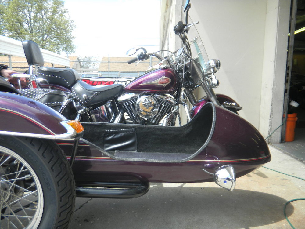 1996 HARLEY DAVIDSON FLST - SIDECAR IS NOW WHEELCHAIR WORTHY!