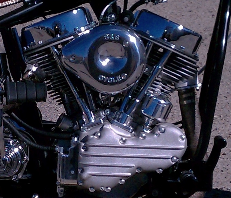 SS 93 PANHEAD MOTOR - YUP.  SS MAKES OLD SCHOOL REPLICA MOTORS.  KNUCKLEHEAD, PANHEAD, SHOVELHEAD