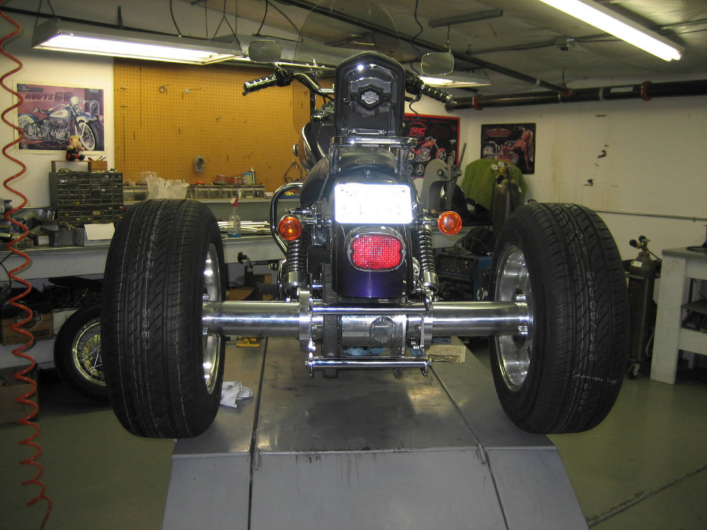 TRIKE AXLE INSTALLED