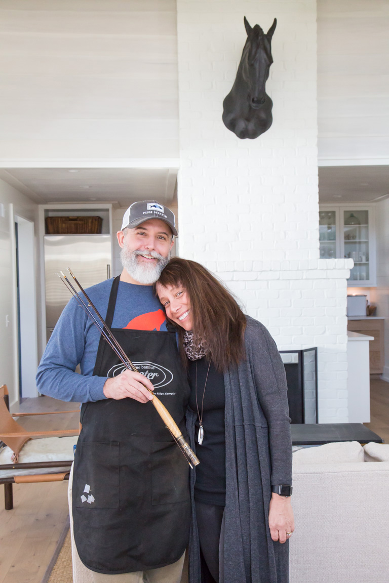 Bill and Shannen Oyster inside the Artist Cottage.