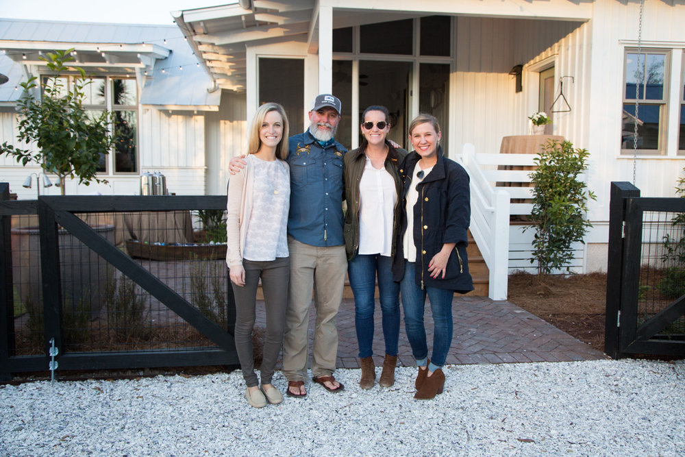 Anna Jones, Bill Oyster, Ellie Gumenick, and Sarah Grubbs at Saturday night's Fish Fry at the Artist Cottage.