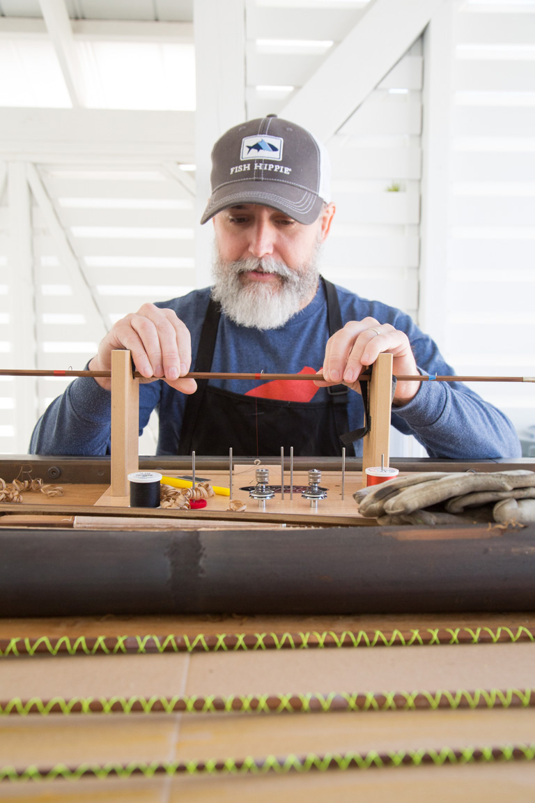Bill Oyster of Oyster Bamboo Fly Rods from Blue Ridge, Georgia, is our first Artist in Residence for 2017.