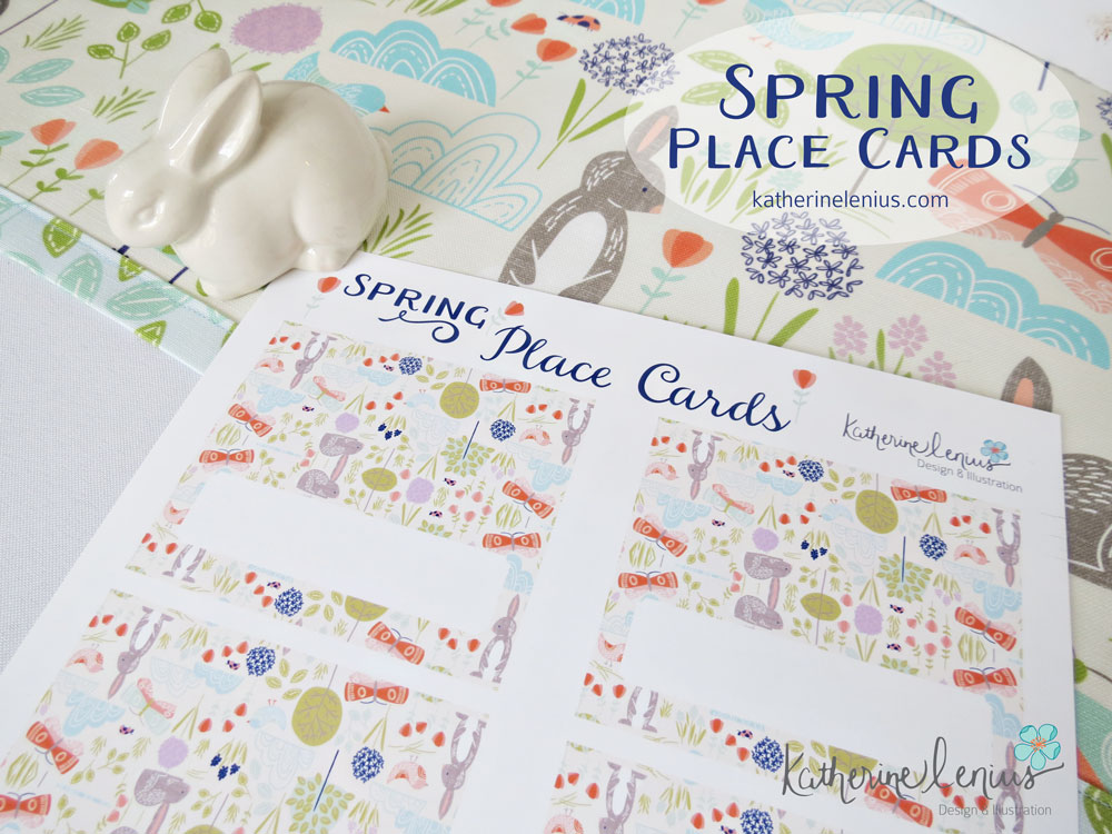 Printable Spring Place Cards | katherinelenius.com