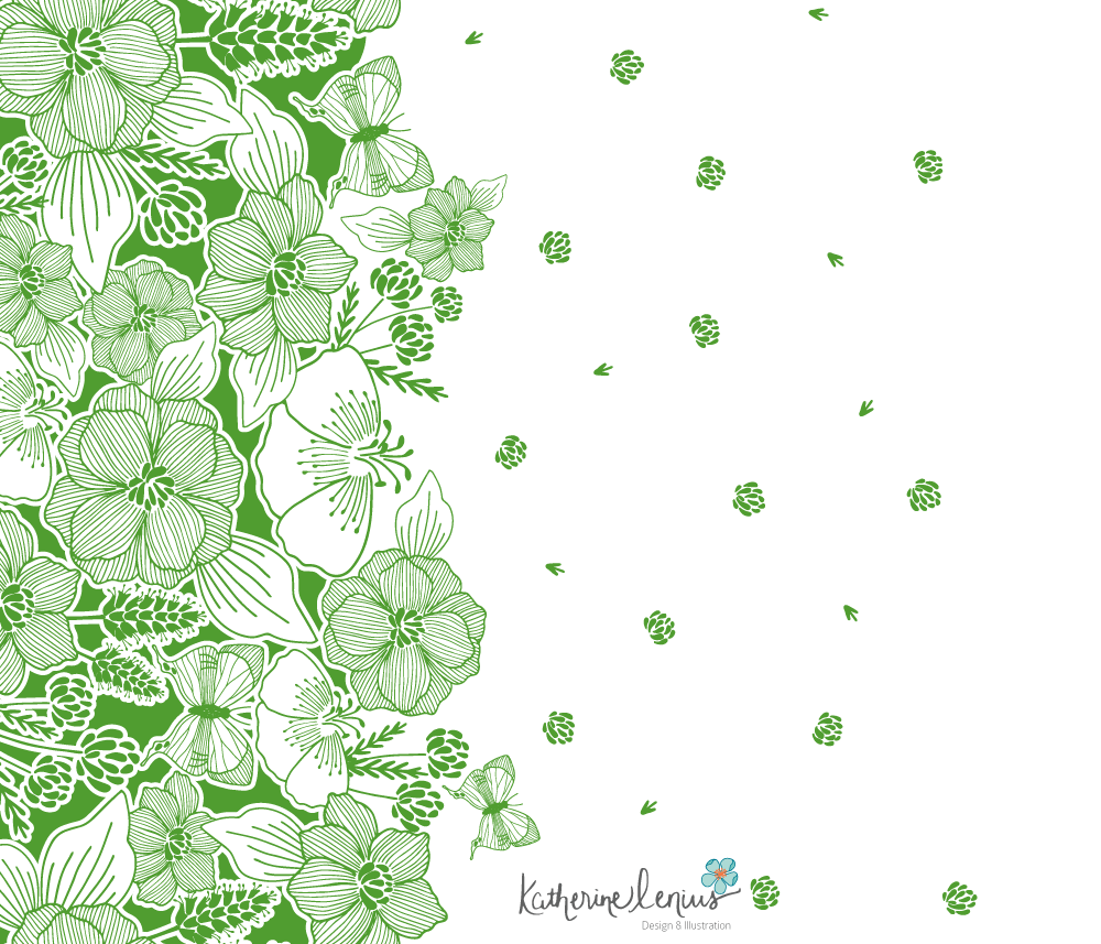 Floral-Border-Print