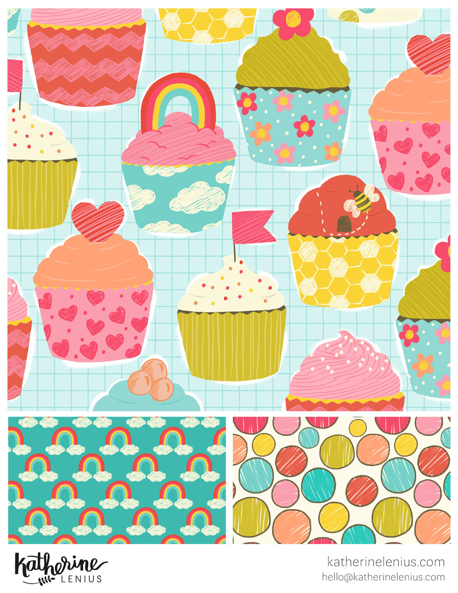 Rainbow Cupcakes | Katherine Lenius