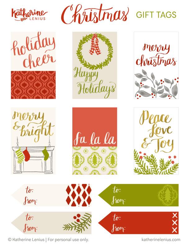 Katherine Lenius Christmas Gift Tags