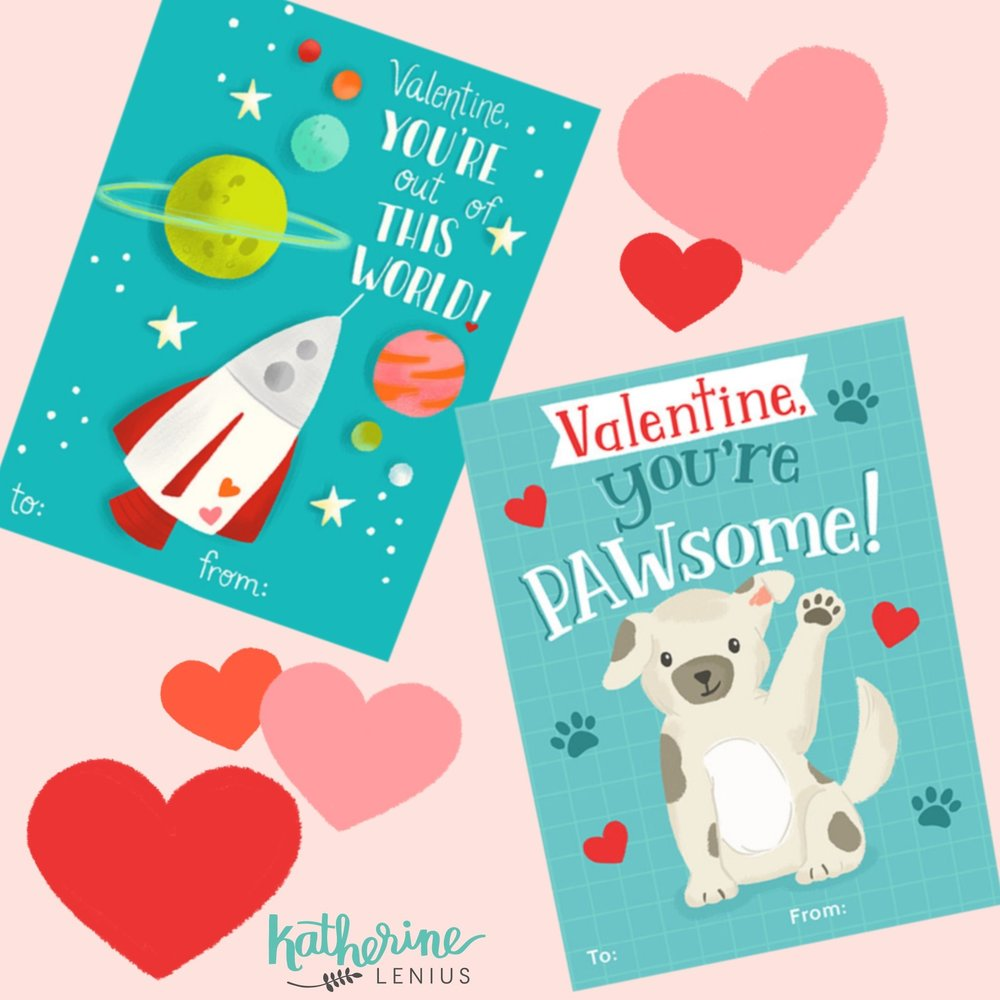 These cute classroom valentines are available on  Mpix.com  as a customizable valentine for the kiddos!