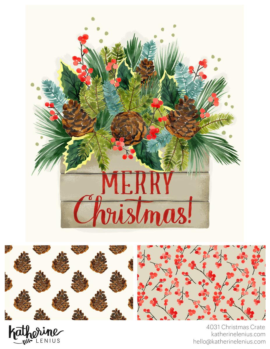 Christmas Crate | Katherine Lenius