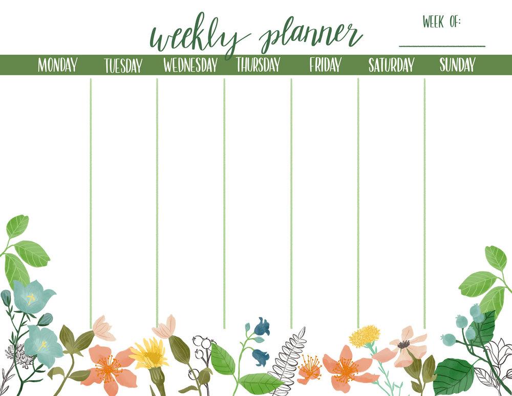 Wild Botanica Weekly Planner