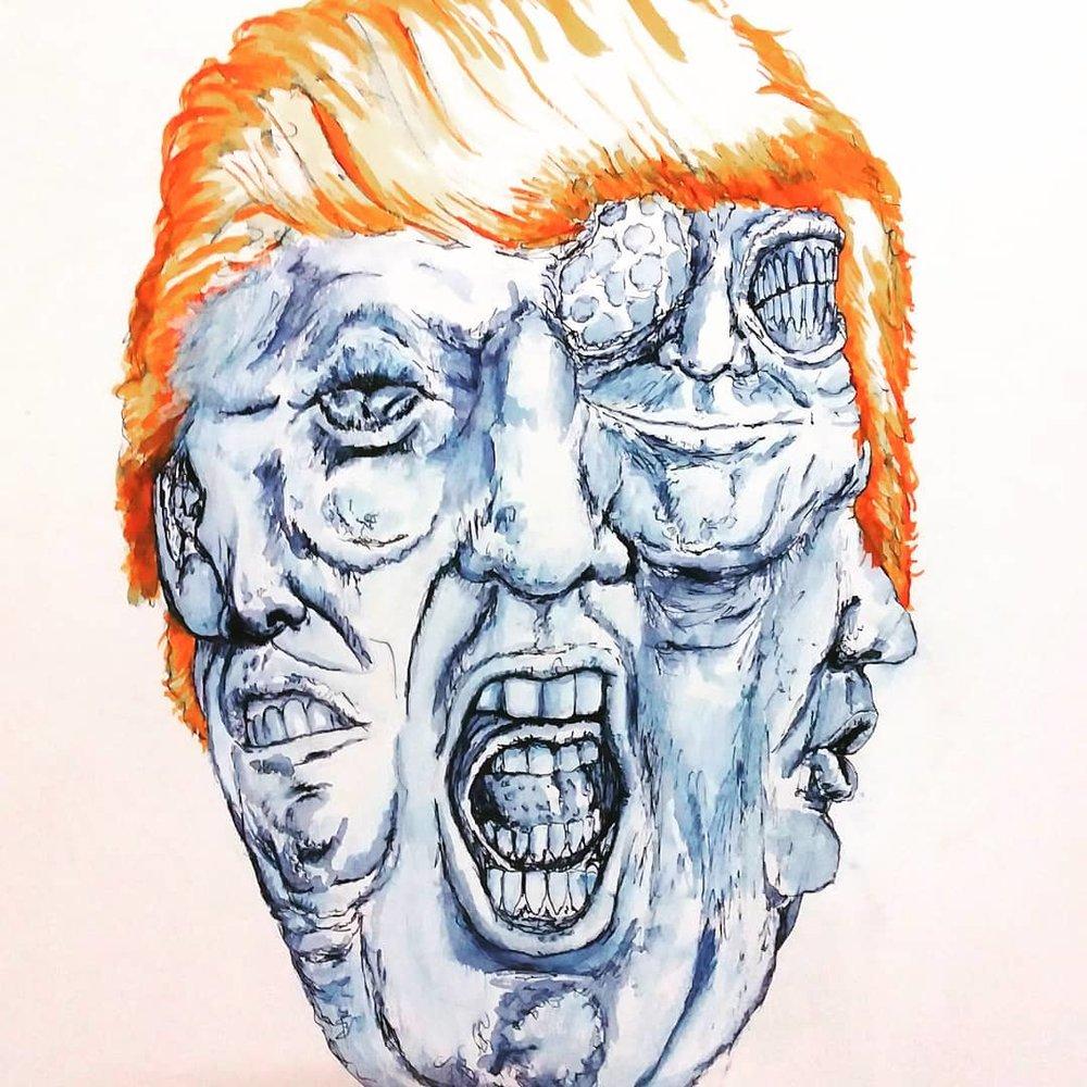 """""""Trumping Around"""", ri cruz (imagen cortesía del artista)"""