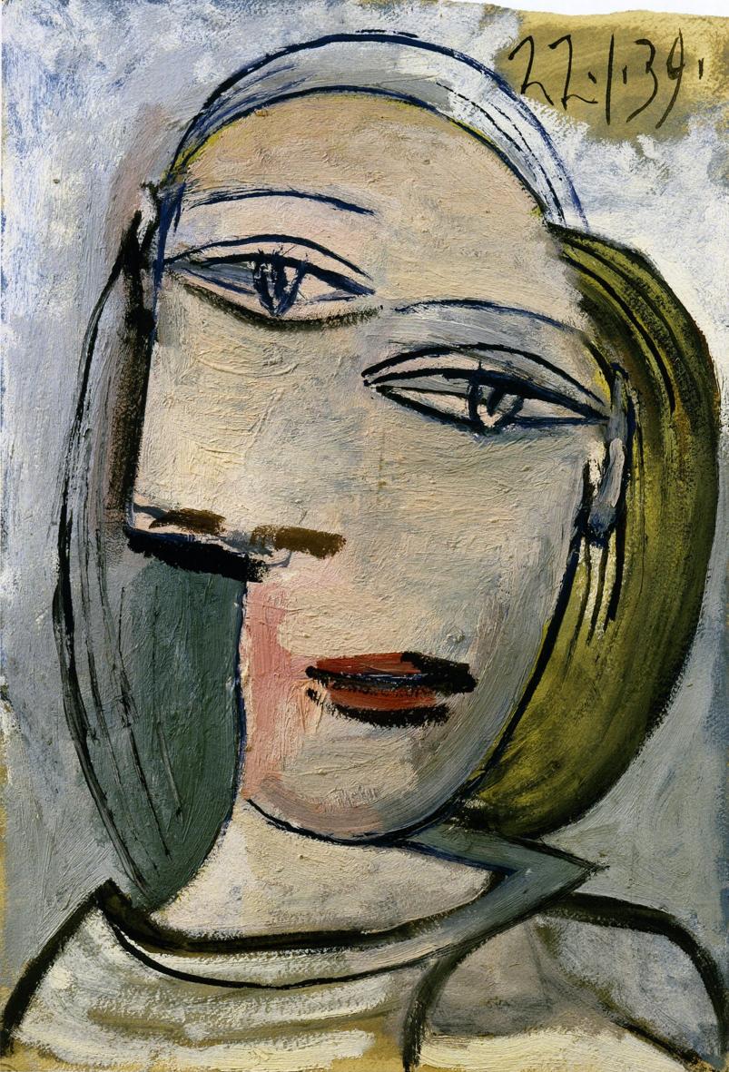 Portrait de femme (Marie-Thérèse), 1939, Pablo Picasso