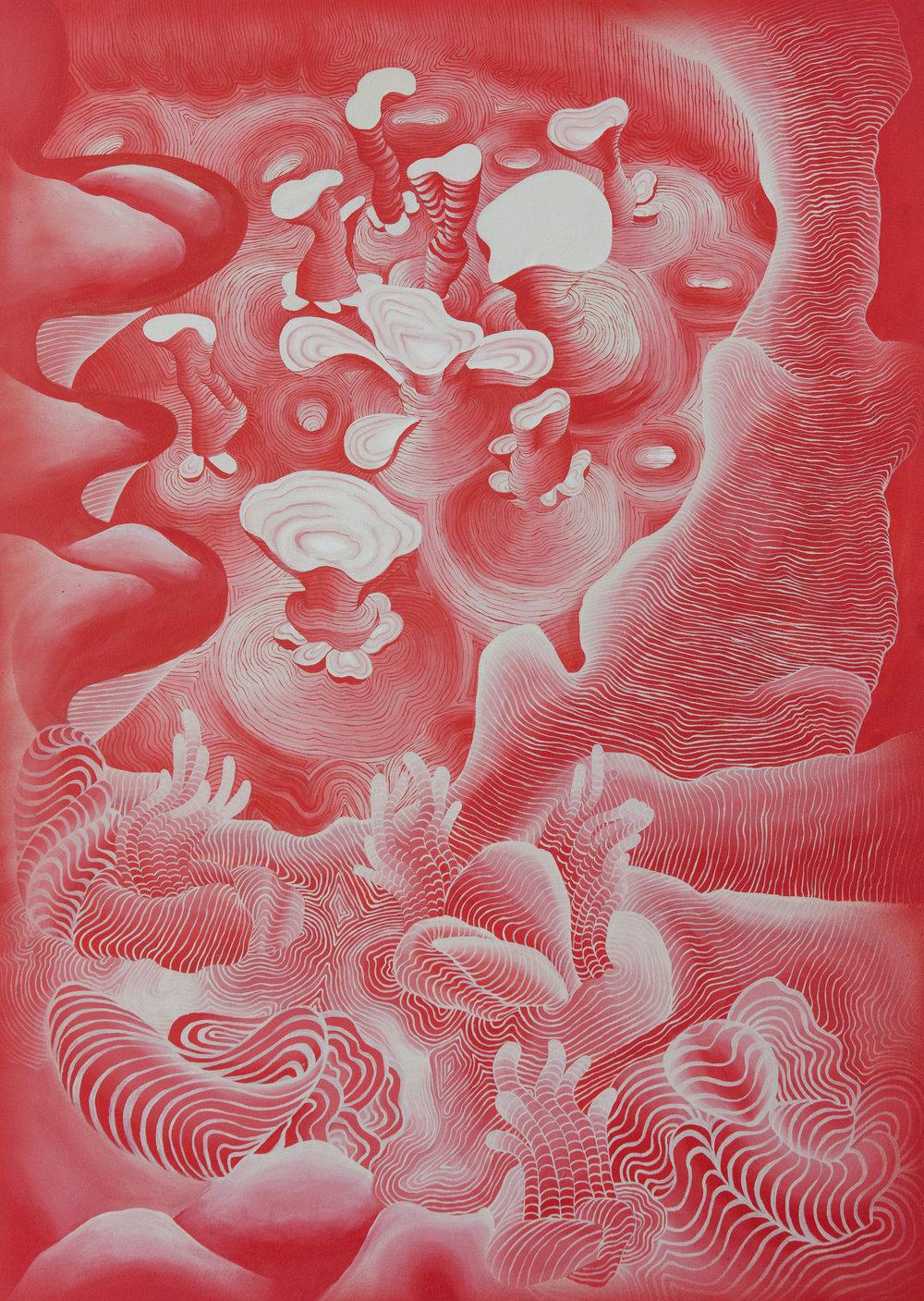 Oceano (solaris)    acrílico sobre lienzo    150 x 100 cm
