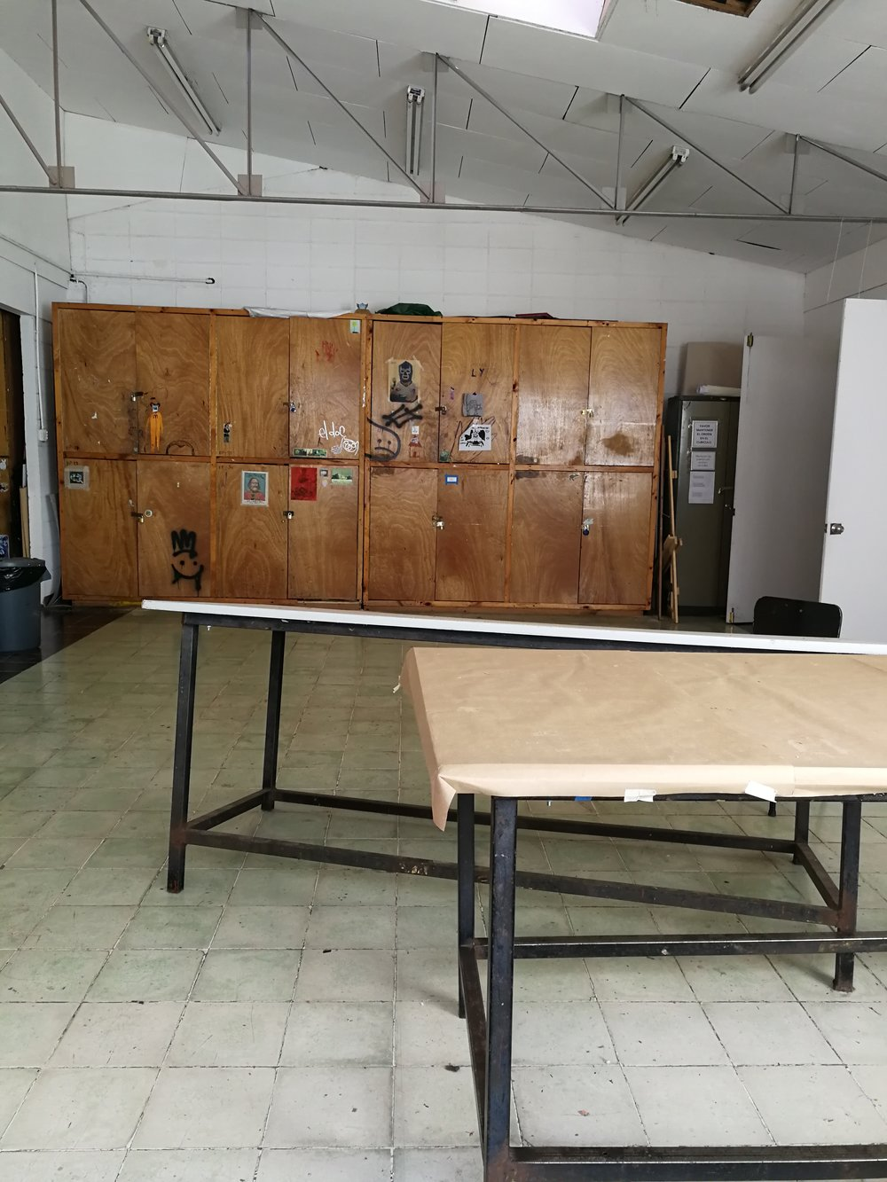 taller de pintura, la EAP