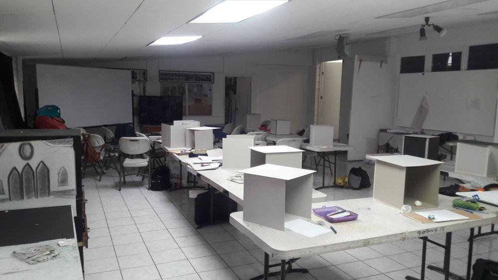 taller de pintura, primer semestre del 2018