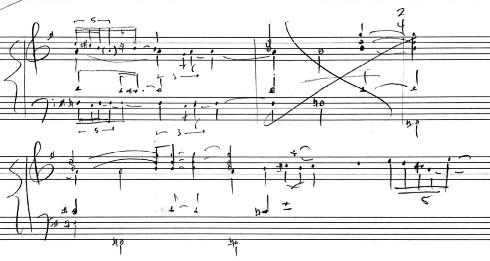 self song manuscript