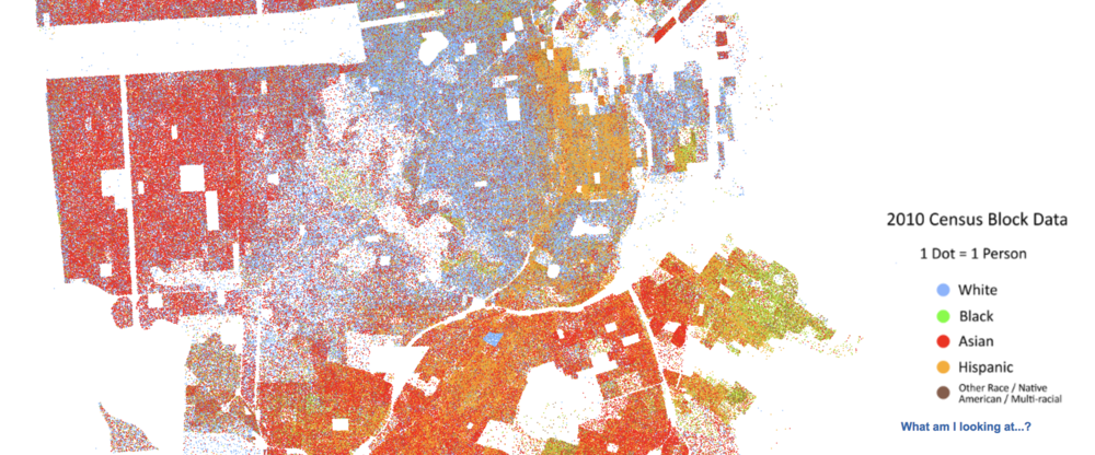 Note the blue square that stands out against a red/orange background in the southern part of San Francisco.