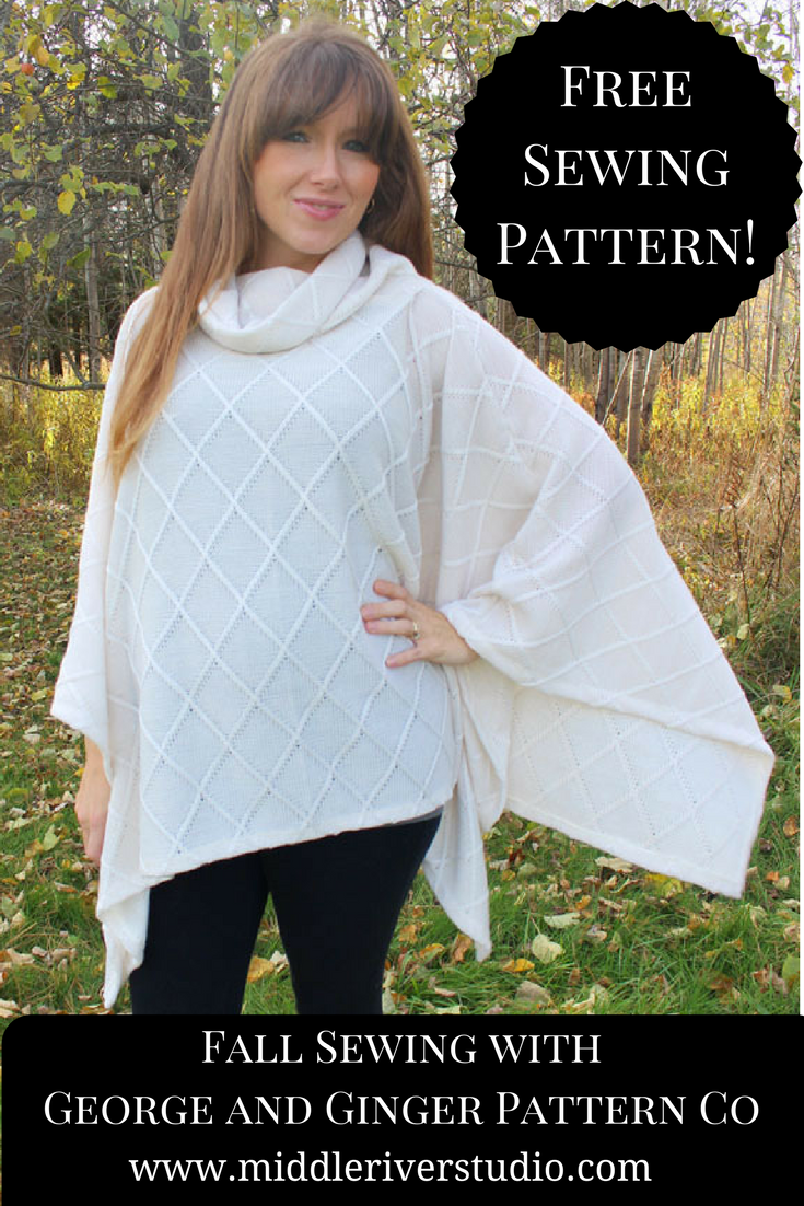 free sewing pattern poncho