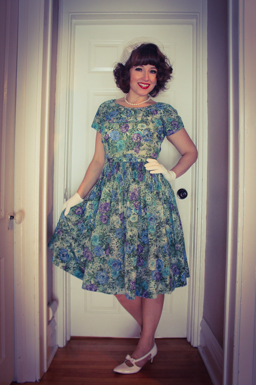 vintage 1950s dress Leslie Fay