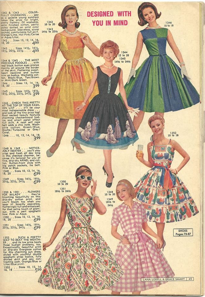 Lana Lobell 1960s John Wolf Poodle Skirt