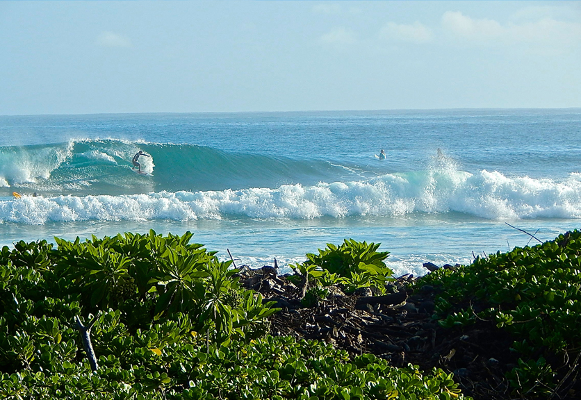 Ai Pono Maui surf break in front of facility