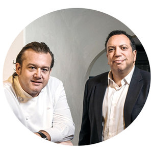 Ahmass Fakahany + Michael White  Co-Owners Altamarea Group