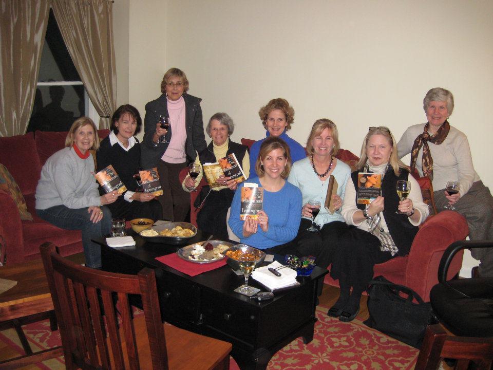 Book club reading The Madonnas of Leningrad