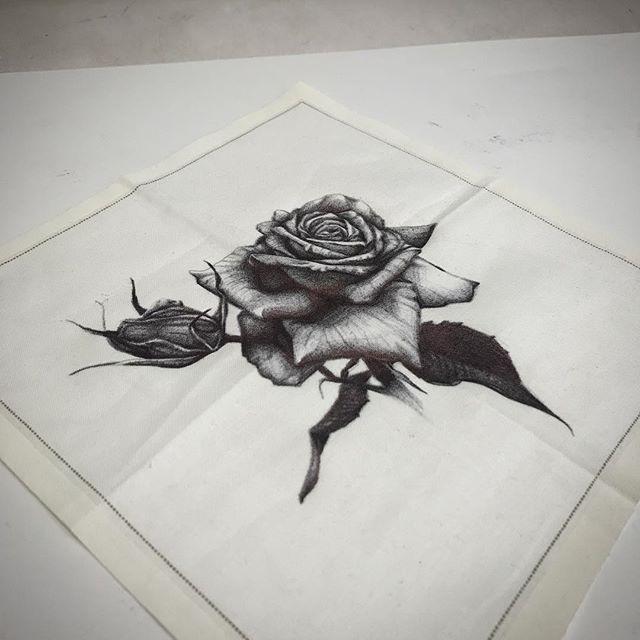 Black ballpoint on a #louisvuitton napkin