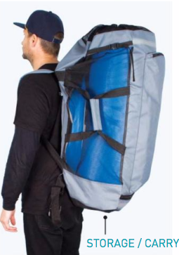 Inflatable SUP fits in back pack