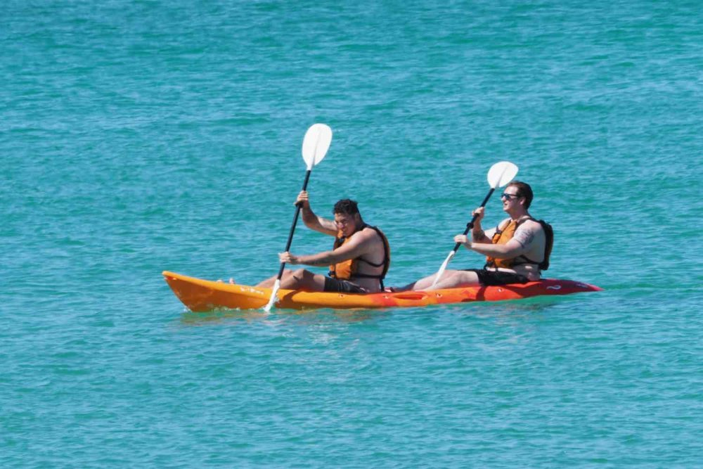 Kayaking for two? We have steady double sit on top kayaks for hire or tours in Dunsborough -Geographe Bay Western Australia.