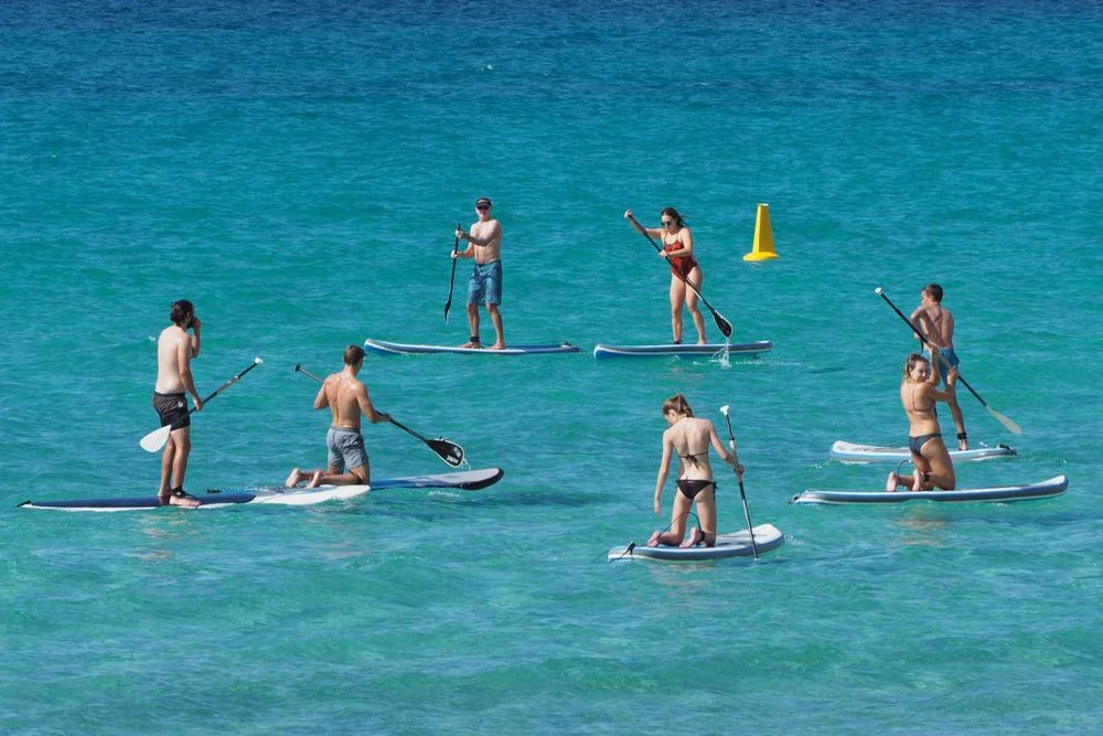 Meelup is the perfect location for a Stand Up Paddle Board Lesson. The tight bay and large trees offer great protection from most wind directions.