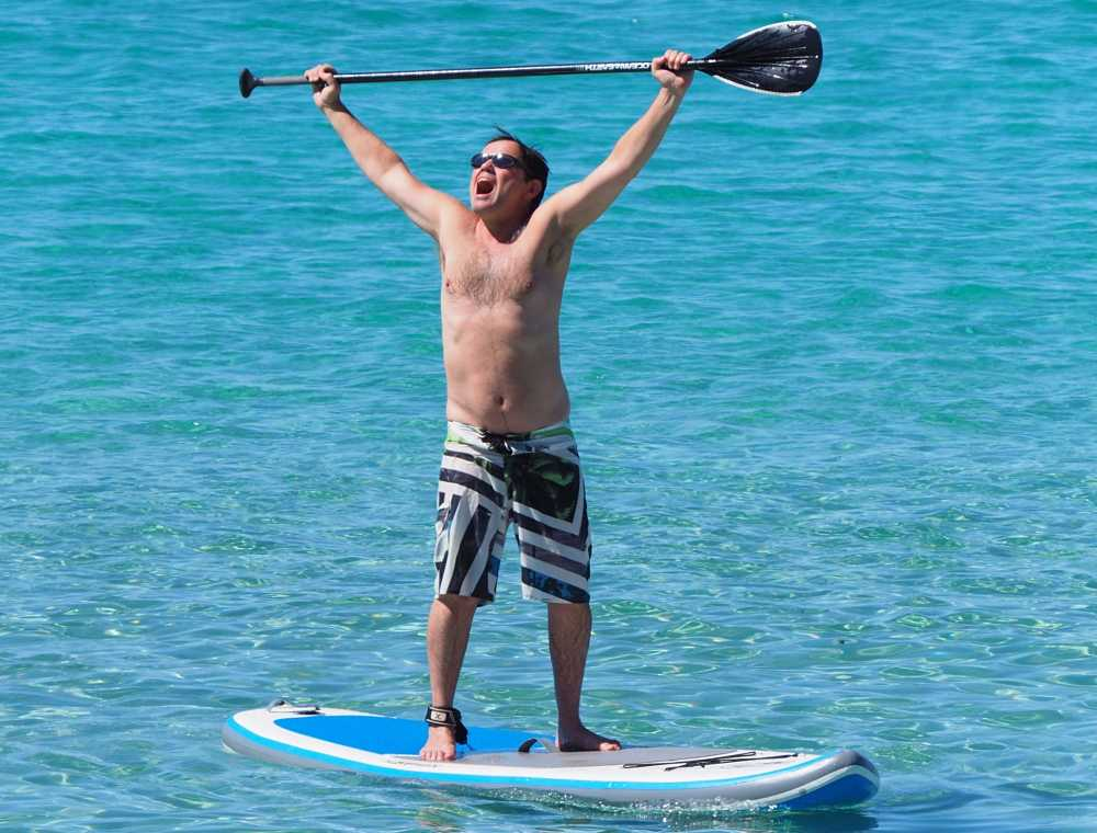 Stand up paddle or surrendar pose