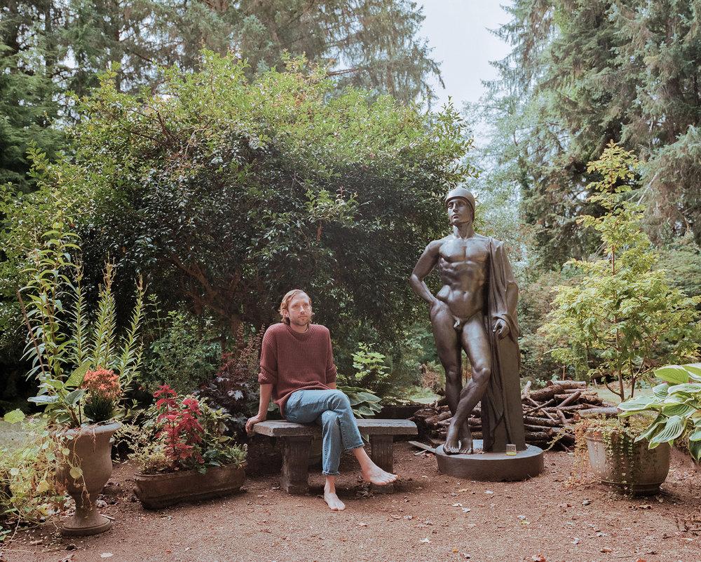 Neil in his Renaissance garden - September 2018
