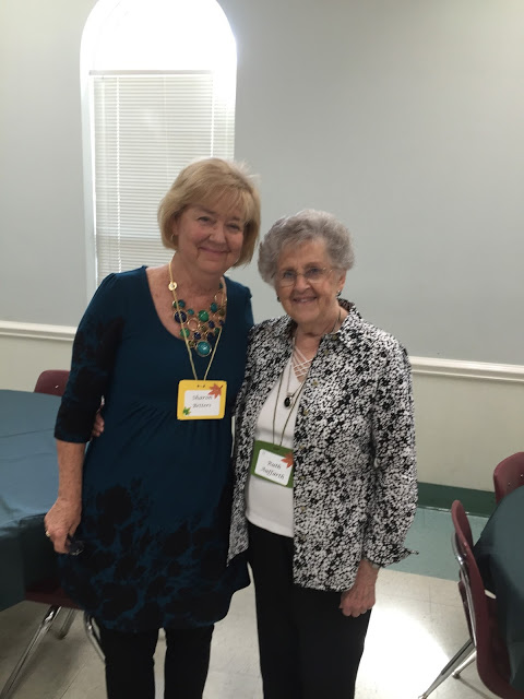 Reunited with my praying friend, Ruth Auffarth, at a Women's Conference near Atlanta
