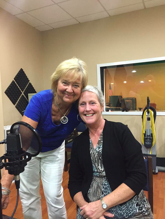 Debbie and I in the recording studio recording her  Help and Hope  interview   Ovarian Cancer: The Constant Battle