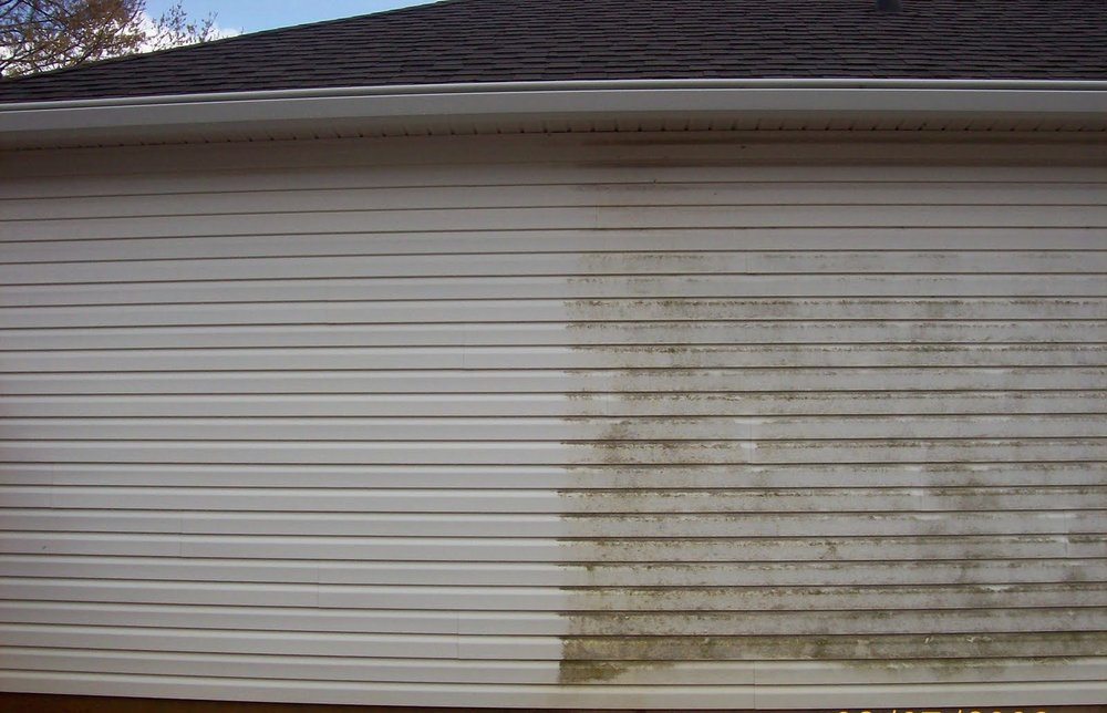 "Our pressure washing services make a huge difference in boosting the ""curb appeal of your property!"