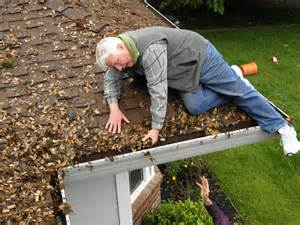 Regular Gutter clearing & cleaning keeps the outflow of water flowing smoothly!