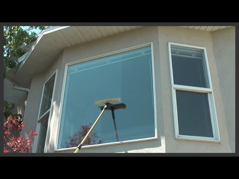 Our telescopic window washing poles save you the time & energy, while eliminatingthe risk of ladders!