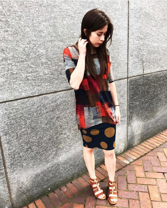 Pattern mixing is where it is at. Thanks @lularoemeganhopfer for showing us how it's done.