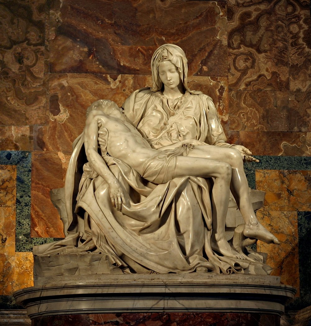 Michelangelo's Pieta - image from wikipedia: https://en.wikipedia.org/wiki/Piet%C3%A0
