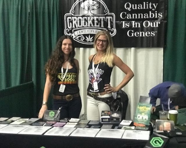 Ladies killed it this weekend @necannacon! Thank you to everyone who came by and we can't wait to reach out to all our new members! @geneticthreads #geneticthreadstribe #monthlyboxclub #crockettmonth #crockettfamilyfarms #abscent #dnagenetics #cannaradogenetics #moscagenetics